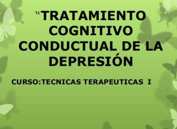 Técnicas conductuales del tratamiento de la depresión