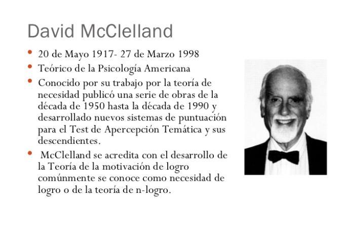La Teoría De Las Necesidades De Murray Y La De Mcclelland