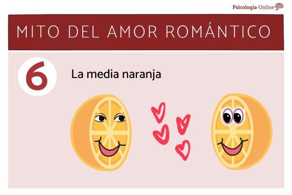 Mitos del amor romántico y la realidad - La media naranja