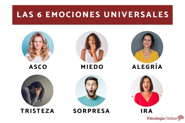 Cuáles son las emociones universales: lista y ejemplos
