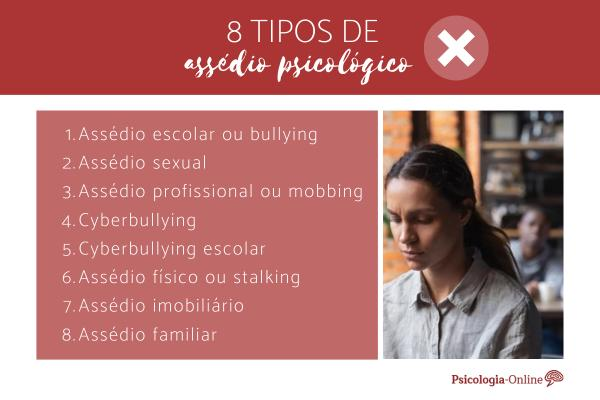 Assédio psicológico: o que é, tipos, causas e consequências - 8 Tipos de assédio psicológico